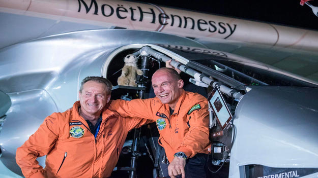 Mandalay, Myanmar, March 19, 2015: Solar Impusle 2 lands in Mandalay with Bertrand Piccard at the controls. The First Round-the-World Solar Flight will take 500 flight hours and cover 35'000 km, over five months. Swiss founders and pilots, Bertrand Piccard and André Borschberg hope to demonstrate how pioneering spirit, innovation and clean technologies can change the world. The duo will take turns flying Solar Impulse 2, changing at each stop and will fly over the Arabian Sea, to India, to Myanmar, to China, across the Pacific Ocean, to the United States, over the Atlantic Ocean to Southern Europe or Northern Africa before finishing the journey by returning to the initial departure point. Landings will be made every few days to switch pilots and organize public events for governments, schools and universities.