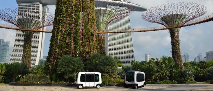 Easymile EZ10 tur aracı / Singapur, Gardens by the Bay