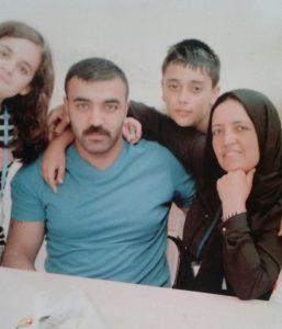 Sercan Zorba ve ailesi.