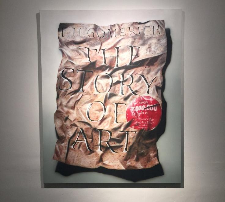 Alican Leblebici, The Story of Art, 2016, tual üzerine akrilik ve yağlıboya, 173x140 cm