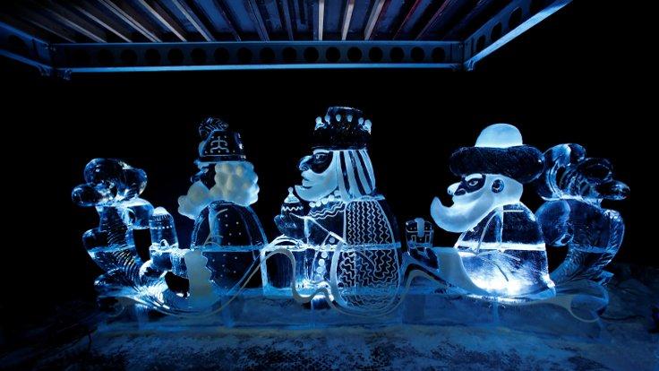 Almanya'daki buz heykel sergisi başlıyor...