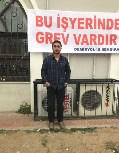 6 yıllık İZBAN çalışanı makinist Mücahit Yavuz, net 1517 lira maaş aldığını söyledi.