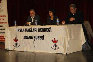 İHD'nin 17 Aralık Cumartesi günü Adana'da OHAL'de İnsan Hakları başlıklı paneli vardı.
