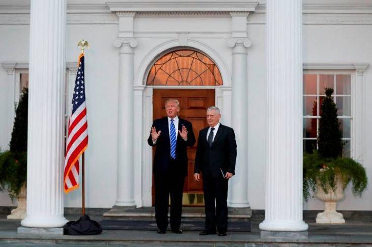 Seçilmiş Başkan Trump, Savunma Bakanı atayacağı (e.) Orgeneral Mattis ile.