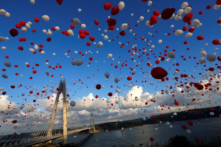 İstanbul'da Yavuz Sultan Selim Köprüsü'nün açılışı