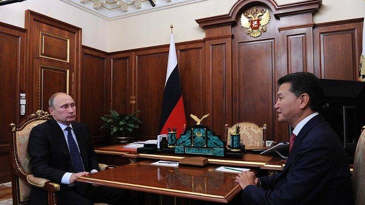 Rusya Devlet Başkanı Vladimir Putin ve Kalmukya Başkanı Kirman Ilyumzhinov