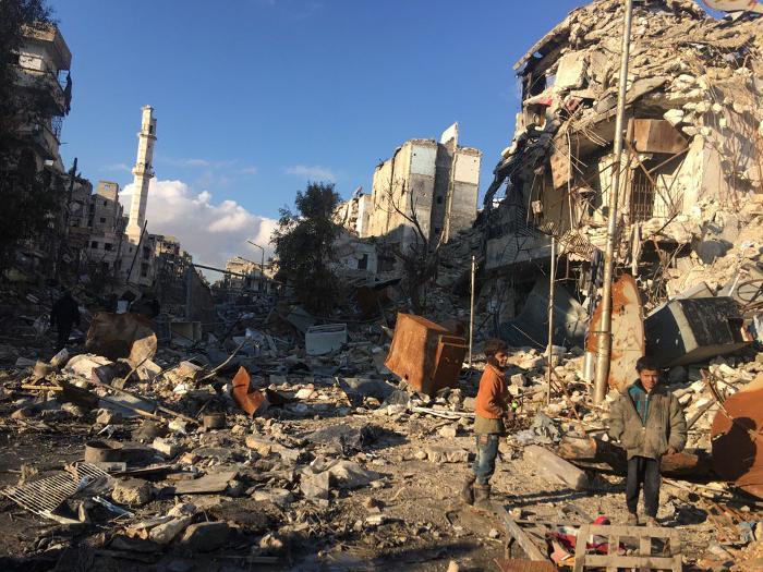 Halep harabeye dönmüş.