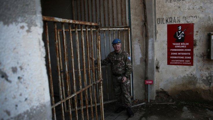 Başkent Lefkoşa'da BM kontrolündeki bölge (Fotoğraf: Reuters)