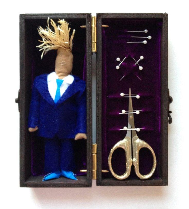 UPRISE / ANGRY WOMEN Exhibit artwork, The Untitled Space Gallery, New York - RUTE VENTURA - Trump Voodoo Box