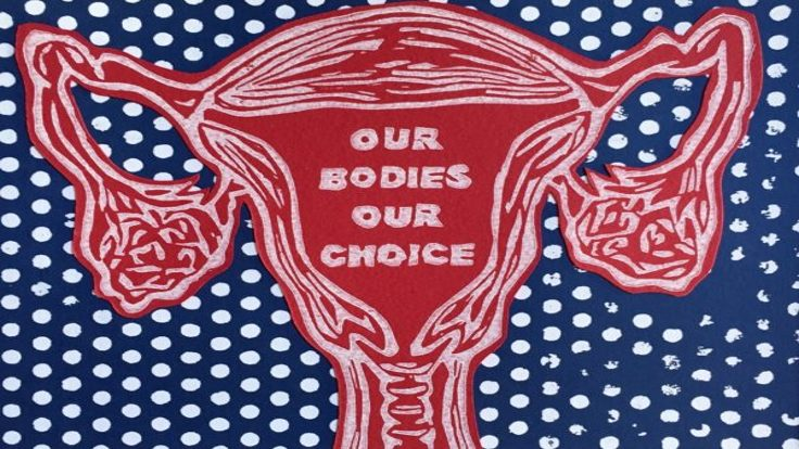 UPRISE / ANGRY WOMEN Exhibit artwork, The Untitled Space Gallery, New York - KELLY WITTE_Our Bodies Our Choice