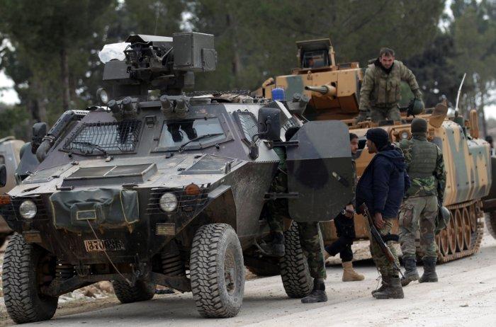 IŞİD'den alınan Bizaa köyüne TSK ve ÖSO militanları yerleşti.