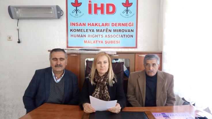Malatya İHD, hukuksal sürecin takipçisi olacaklarını belirtti.