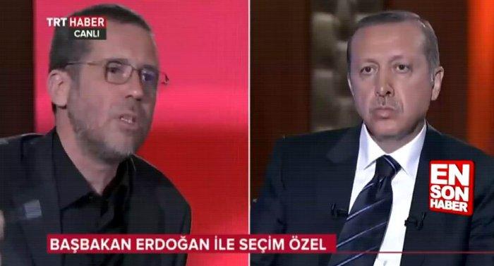 """2014'te Erdoğan'a """"Bazen daha hayal kurmayı bitirmeden siz o işi yapmış oluyorsunuz"""" diyen Hakan Albayrak 1.5 yıl sonra dile getirdiği küçük itirazlar nedeniyle tasfiye edildi."""