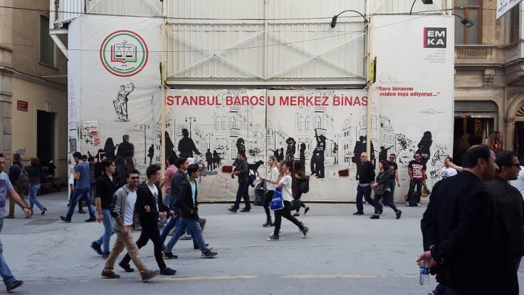 İstanbul Barosu'nun inşaatı