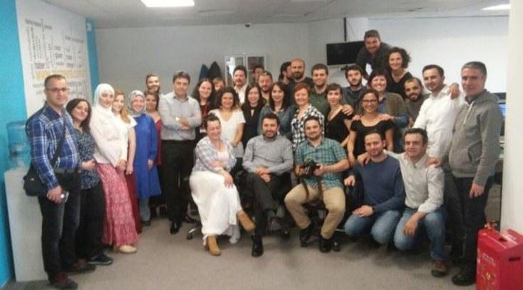 Al Jazeera çalışanları (Fotoğraf: Medyaradar)