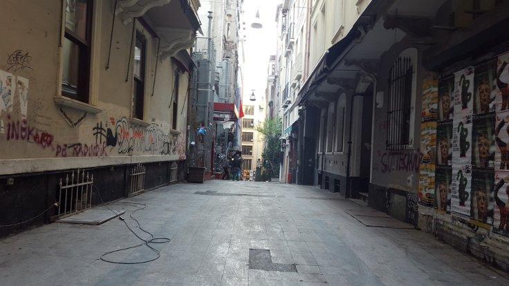 Asmalımescit'te eski Babylon'un sokağı artık fazlasıyla ıssız