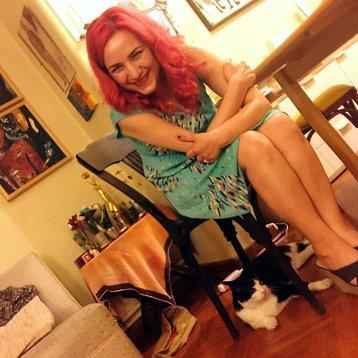 Kedi filminin ünlü aktörü Gamsız ve ben.