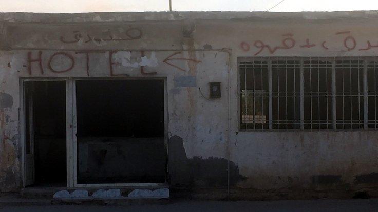 Suriyelilerin konakladığı Şenyurt'ta, bu eski fırın gibi bazı yerler otel görevi gördü.