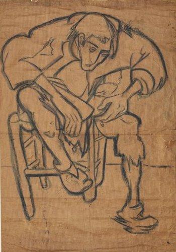 2066,Selim Turan, Esrarkeş, 1948 Kâğıt üzerine çini mürekkebi, füzen Env. no. 2003/2066, İstanbul Üniversitesi Selim Turan Koleksiyonu