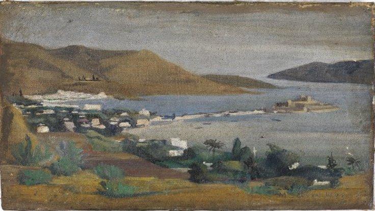 Selim Turan, Bodrum, 1941, Tuval üzerine yağlıboya, Env. no. 2003/2058, İstanbul Üniversitesi Selim Turan Koleksiyonu