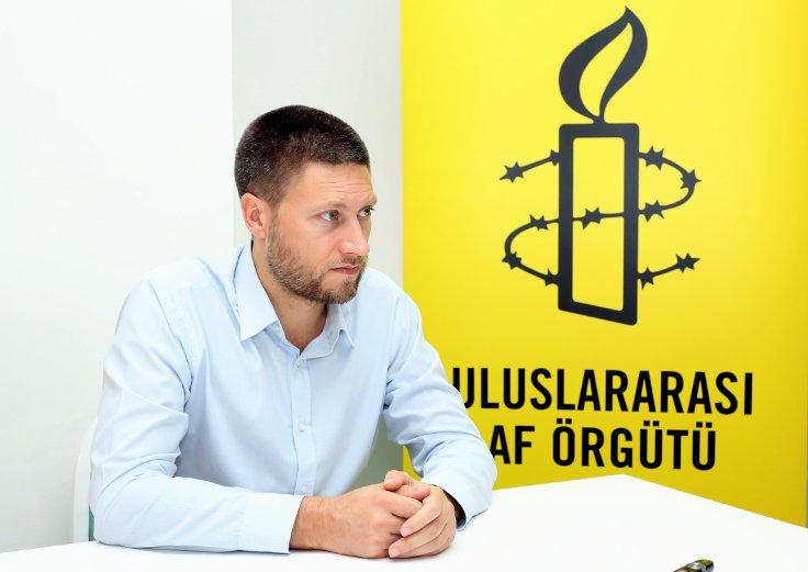 Uluslararası Af Örgütü Türkiye Araştırmacısı Andrew Gardner.