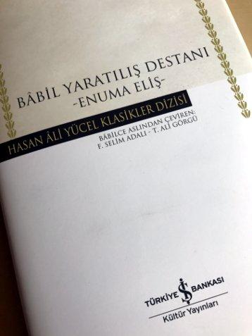 Enuma Eliş, İş Bankası Yayınları, Şubat 2016