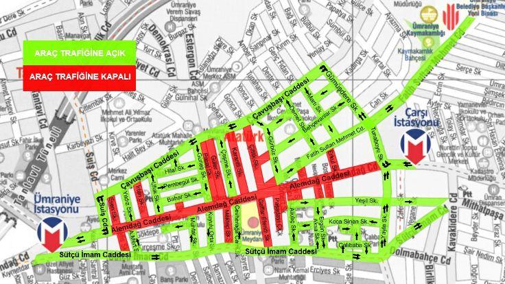 Alemdağ Caddesinin Bir Bölümü Trafiğe Kapatılacak
