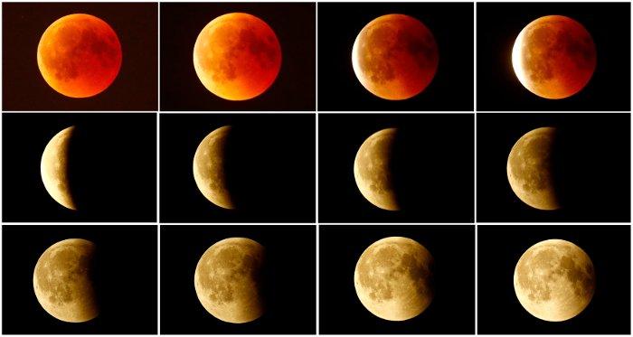 Kanlı Ay Tutulması Başladı Avrupa Afrika Ve Amerika Kıtalarından